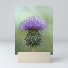 Lavender and Sage Green Thistle Mini Art Print