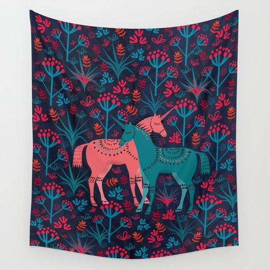 Unicorn Land Wall Tapestry