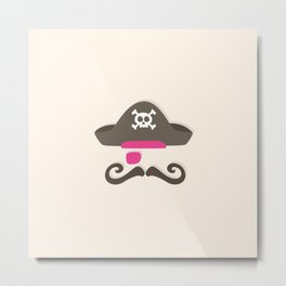 My little pink Pirate Metal Print