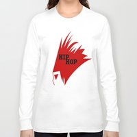 hiphop Long Sleeve T-shirts featuring HIPHOP RED  by Robleedesigns