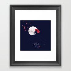 The Night Bridge Framed Art Print