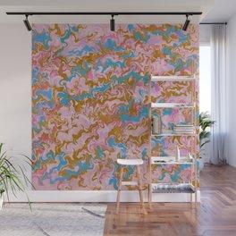 Rose Quartz & Gold Marble Wall Mural