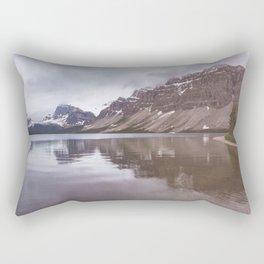 Bow Lake Overcast Rectangular Pillow