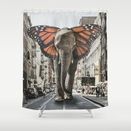 Lost Butterphant in NYC Shower Curtain