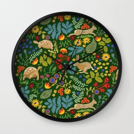 Tortoise and Hare Wall Clock