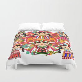 Mexican Dolls Duvet Cover