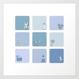 baby boy set Art Print