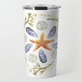 Tide Pool Beach Mandala 3 - Watercolor Travel Mug