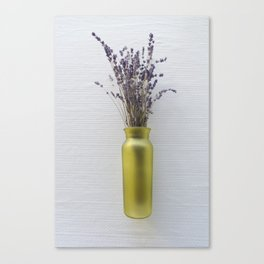 Purple Lavender Green Vase Canvas Print
