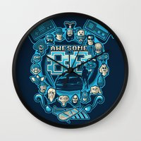 80s Wall Clocks featuring AWESOME 80s by Letter_q