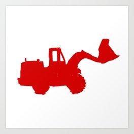 Kids Club - Digger Red Art Print