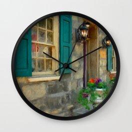 A Victorian Tea Room Wall Clock