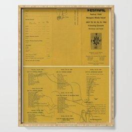 1965 Bob Dylan - Newport Folk Festival Program Concert Poster Serving Tray