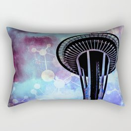 Space Needle - Seattle Stars Clouds Fog Rectangular Pillow