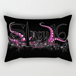 Stacy 16 logo Black Rectangular Pillow