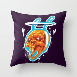 Electric rabbit Throw Pillow
