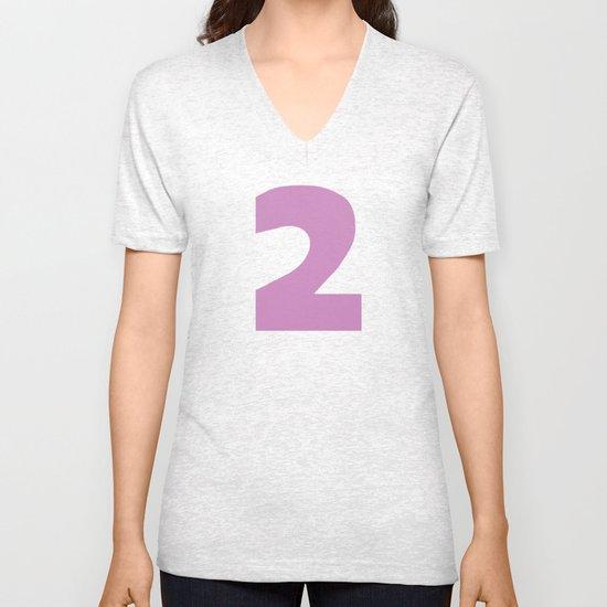 Number 2 Unisex V-Neck