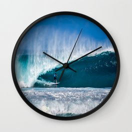 Surfing Pipe Wall Clock