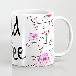 412 2 Wild and Free Floral Coffee Mug