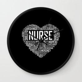 Love Nurse Heart Wall Clock
