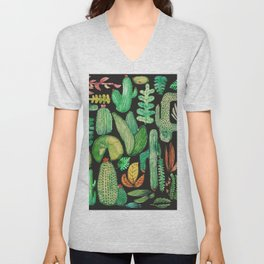 Watercolor nature collab with @rodrigomffonseca Unisex V-Neck
