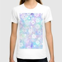 snowflake T-shirts featuring Snowflake by Arushi Puri