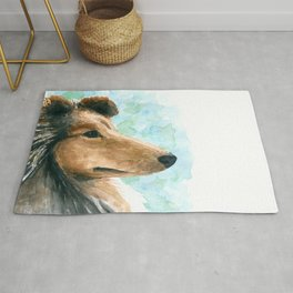Rough Collie dog Rug