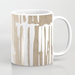 White Gold Sands Bamboo Stripes Coffee Mug