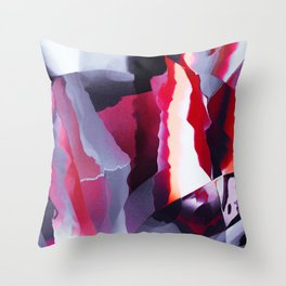 Uncut ruby texture Throw Pillow