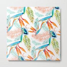 birds of paradise pattern Metal Print