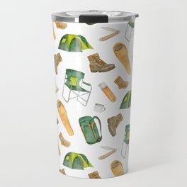 Watercolor camping pattern Travel Mug