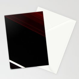 lines oblique stripes red black white Stationery Cards