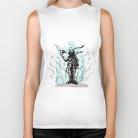 diver Biker Tanks featuring DIVER by taniavisual