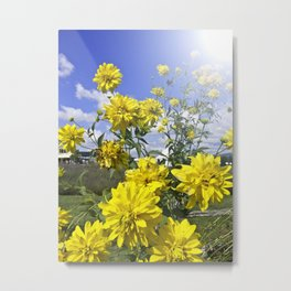 POWER FLOWER Metal Print