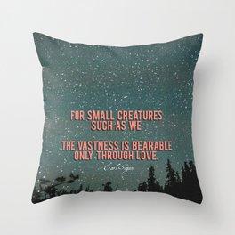 Vastness - Carl Sagan - Valentine's Day Throw Pillow