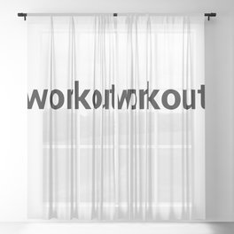 workout Sheer Curtain
