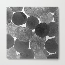 Abstract Gray Metal Print