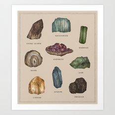 Gems and Minerals Art Print