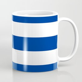 Air Force blue (USAF) -  solid color - white stripes pattern Coffee Mug