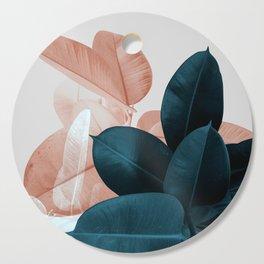 Blush & Blue Leaves Cutting Board
