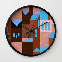 Brown Klee houses Wall Clock