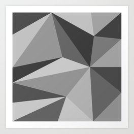 Different shades of Grey Art Print