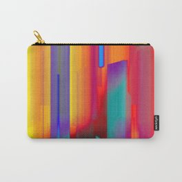 Glitch Fire. Ultraviolet Cityscape Carry-All Pouch