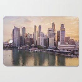 City of Singapore at sunset Cutting Board