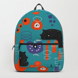 Modern birds and sleepy cats Backpack