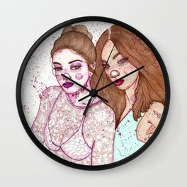 Gigi Hadid & Jourdan Dunn Maybelline NY   Wall Clock