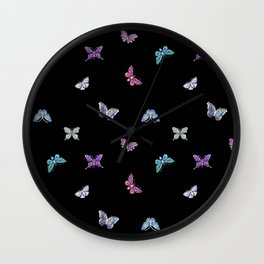 holiday, butterfly, jewels, precious, butterflies, new year, thanksgiving, Christmas, holidays, 2018 Wall Clock
