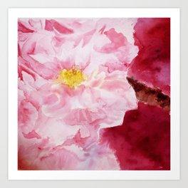 Blossom in Brusho Art Print