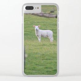 Little Lamb Clear iPhone Case