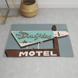 Vintage Neon Sign - The Drifter - Silver City Rug
